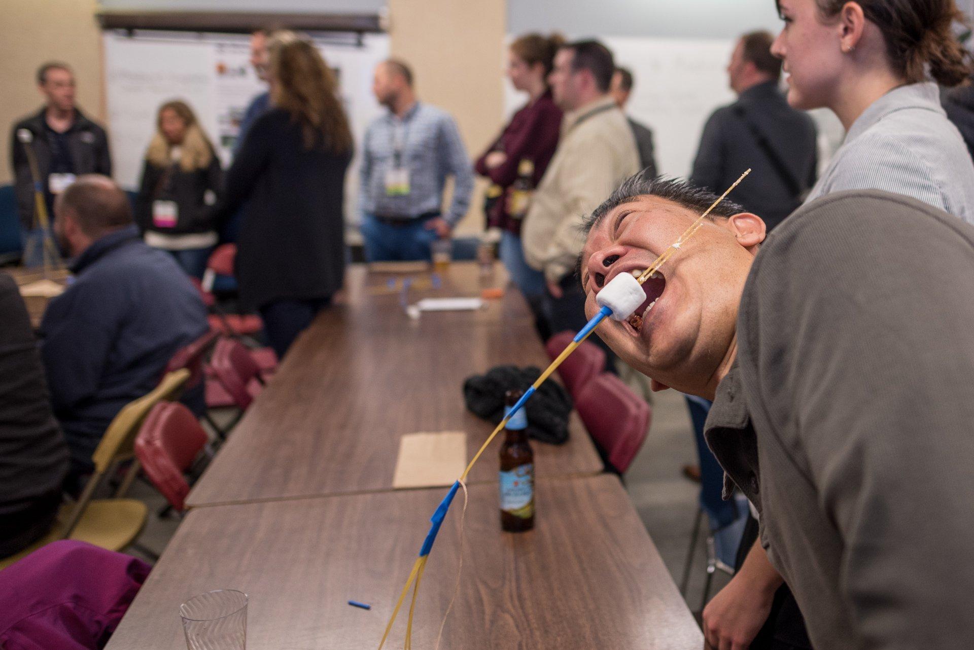 Event Photographers Madison WI Eating Marshmallow