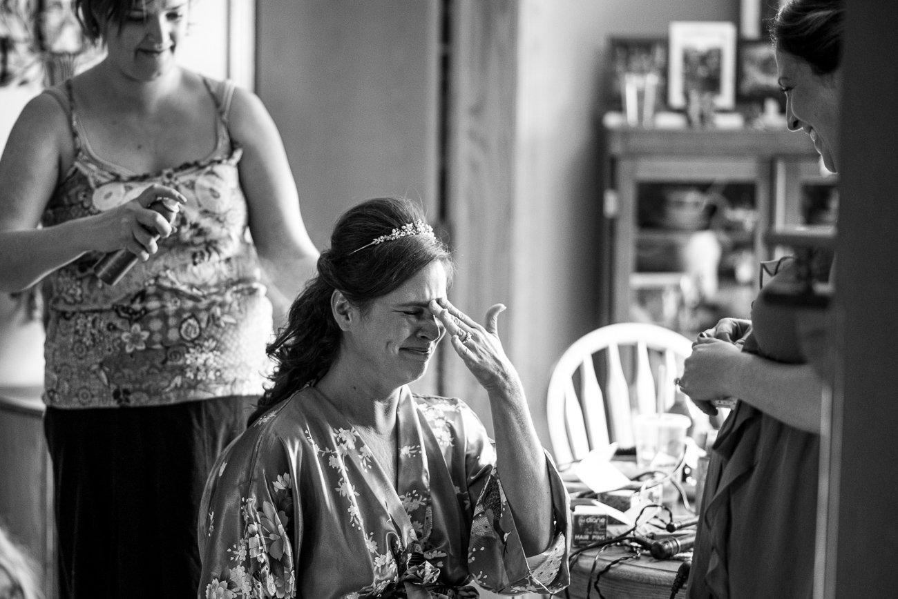 Madison WI Wedding Photographers Bride Crying