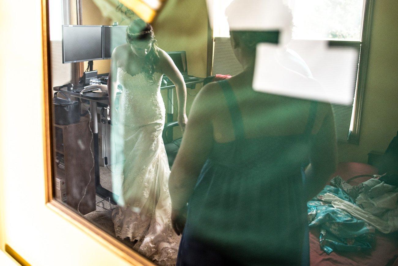 Madison WI Wedding Photographers Bride Reflection