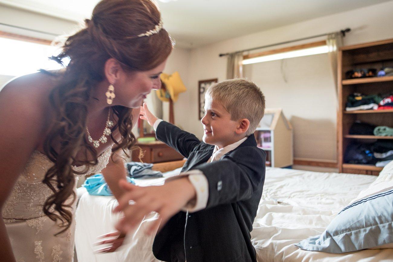 Madison WI Wedding Photographers Bride Son