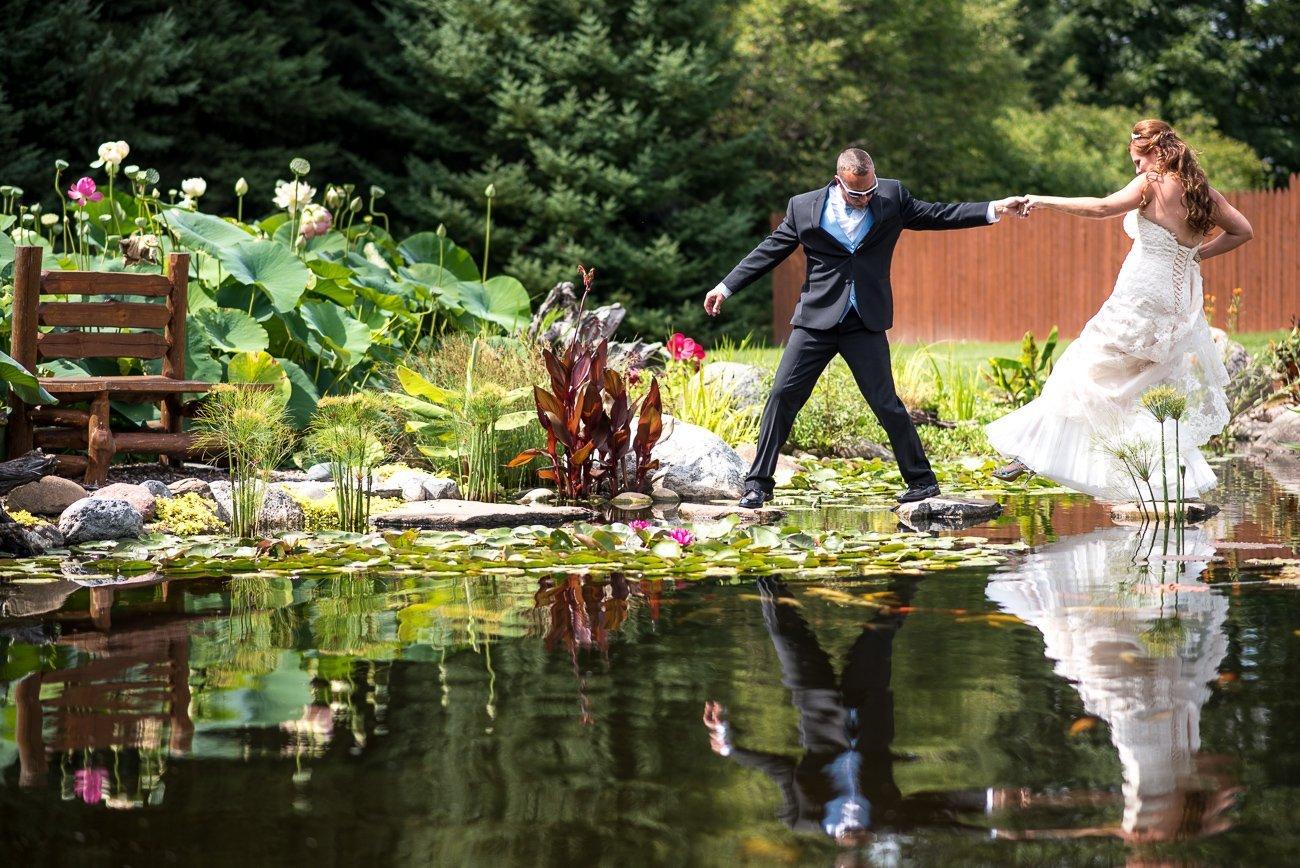 Madison WI Wedding Photographers Crossing Pond