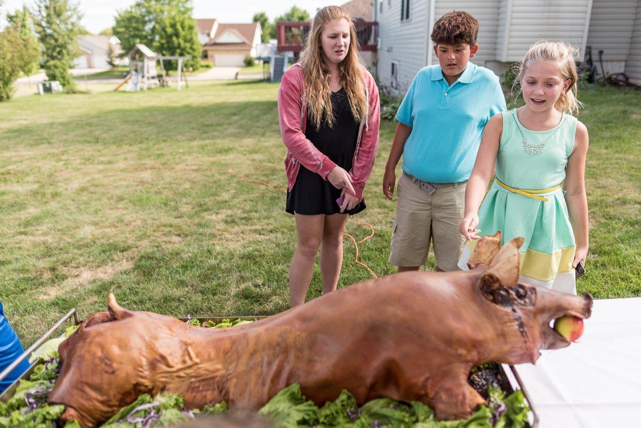 Madison WI Wedding Photographers Pig Roast