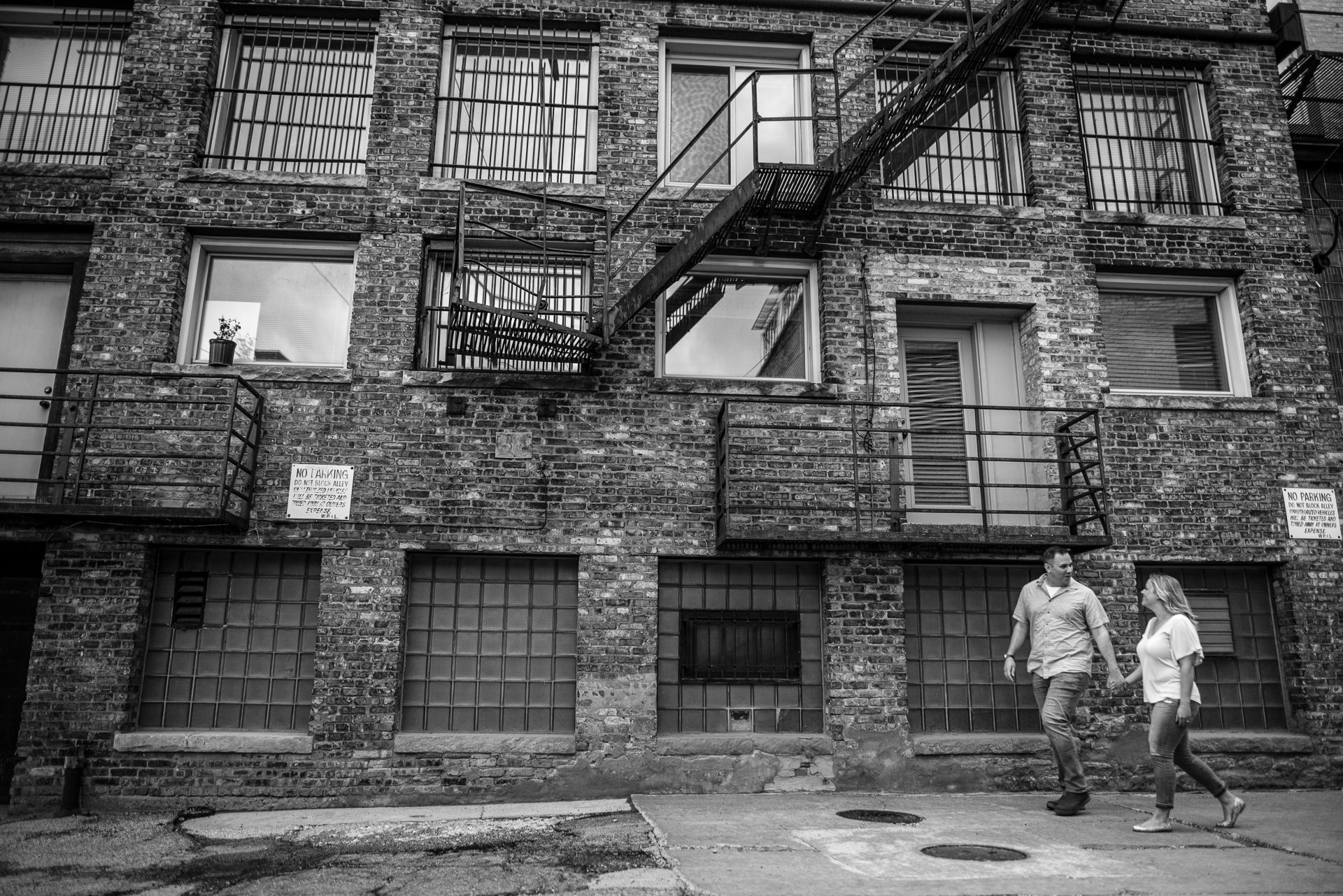 Engagement Photographers Madison WI Alley