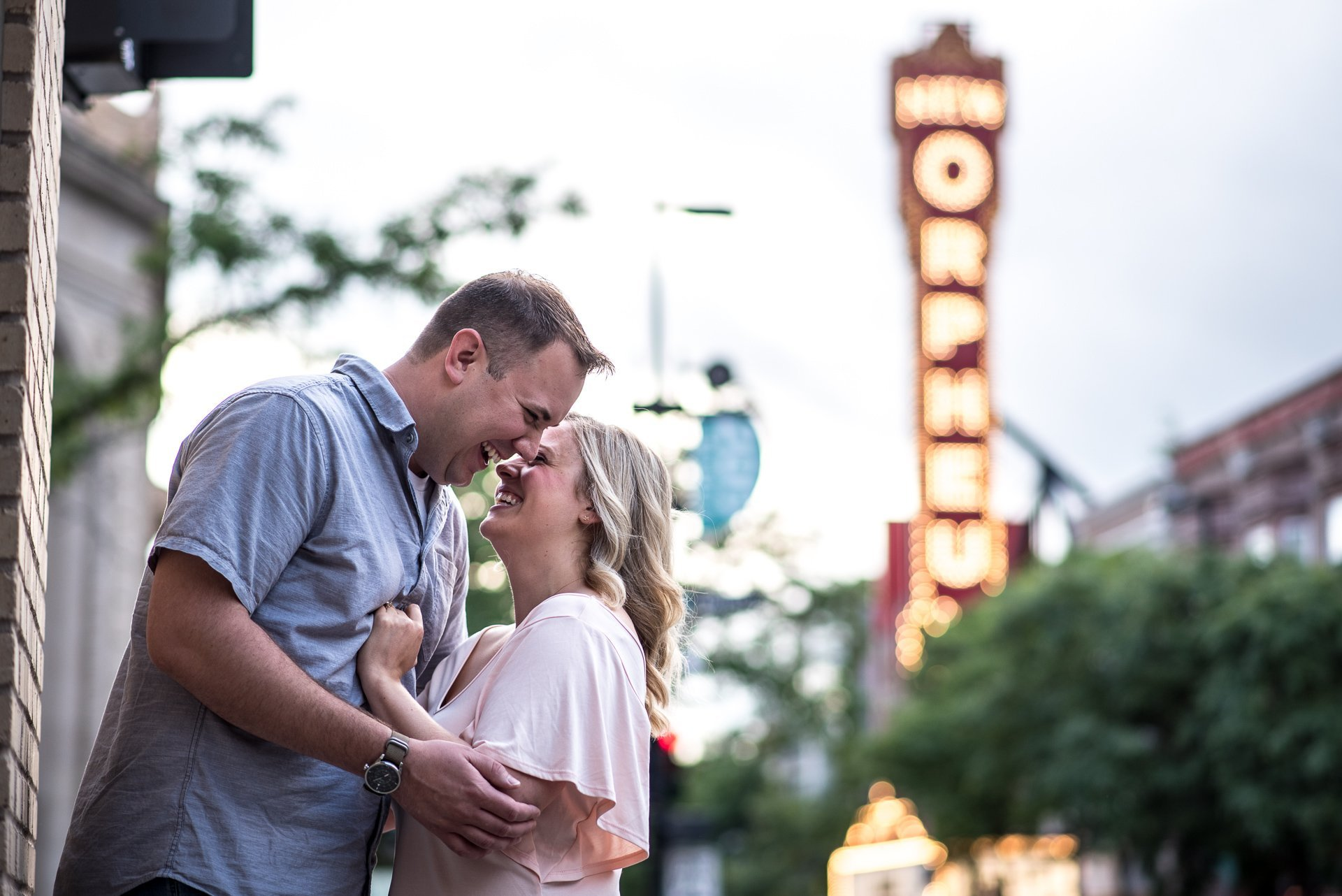 Engagement Photographers Madison WI Orpheum Theater