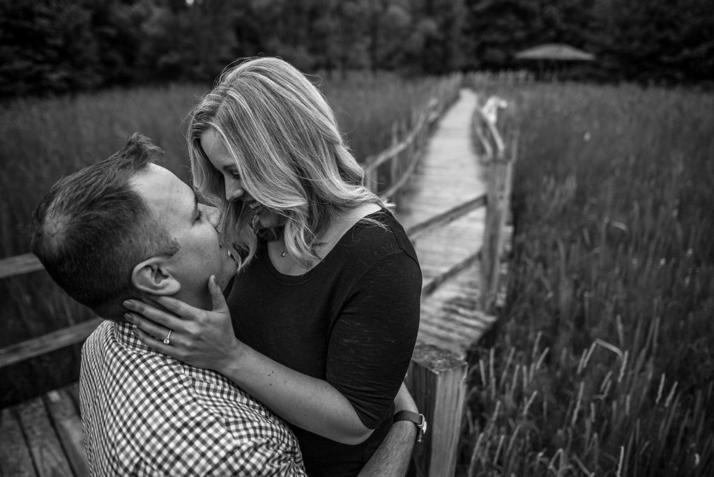 Engagement Photographers Madison WI Walkboard