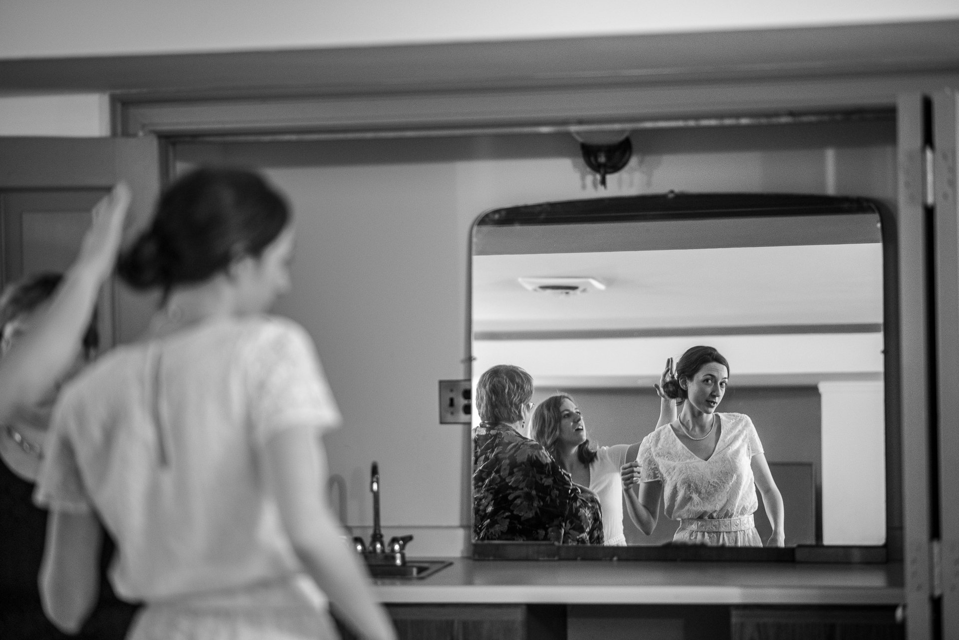 Madison WI Wedding Photographers Bride Mirror