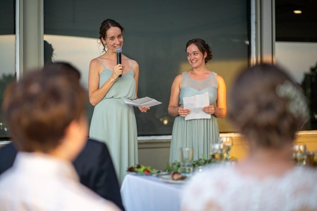 sisters of the bride speech wedding reception photographer