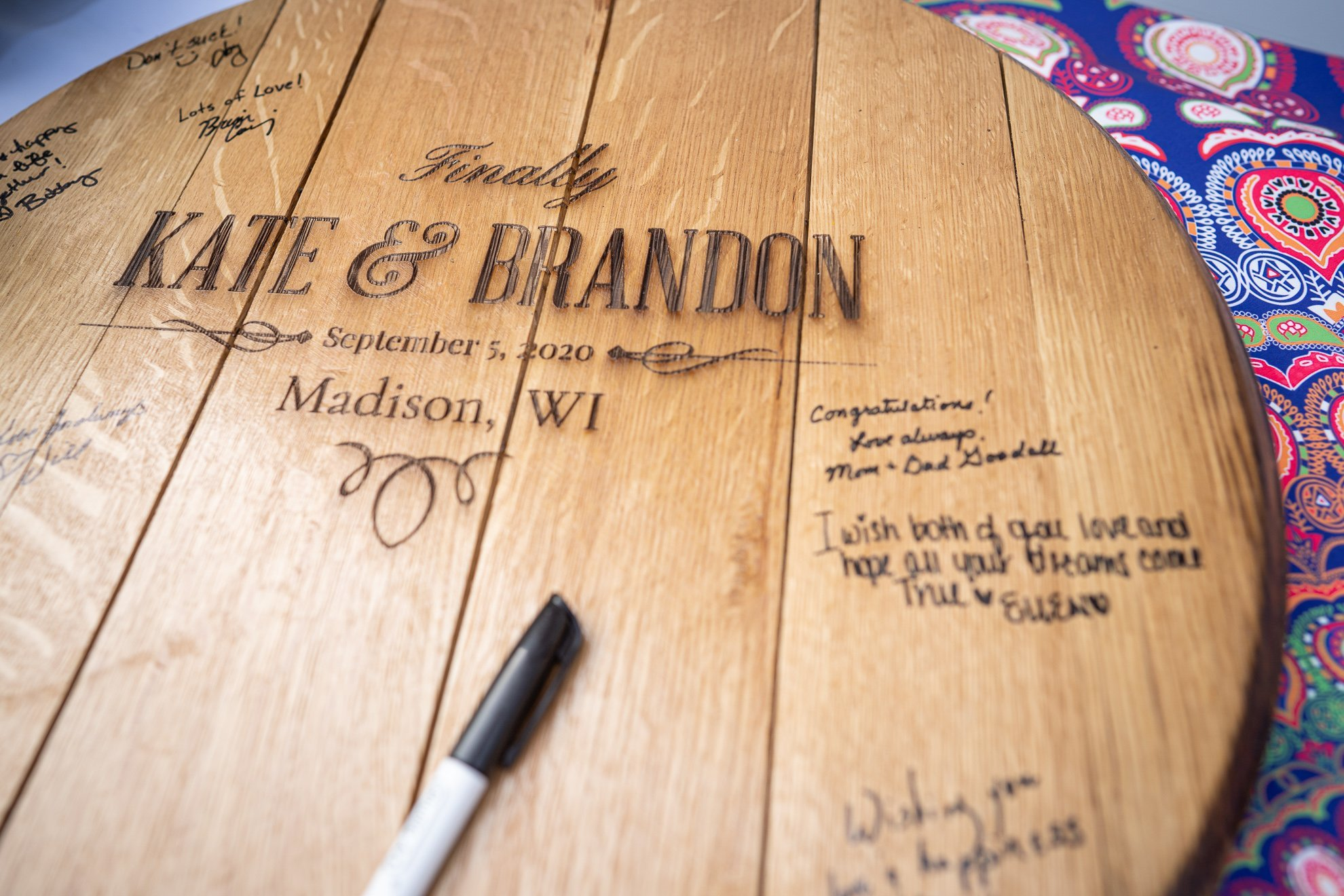 wood plank guestbook
