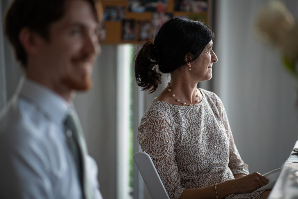 mother of the groom crying during speech