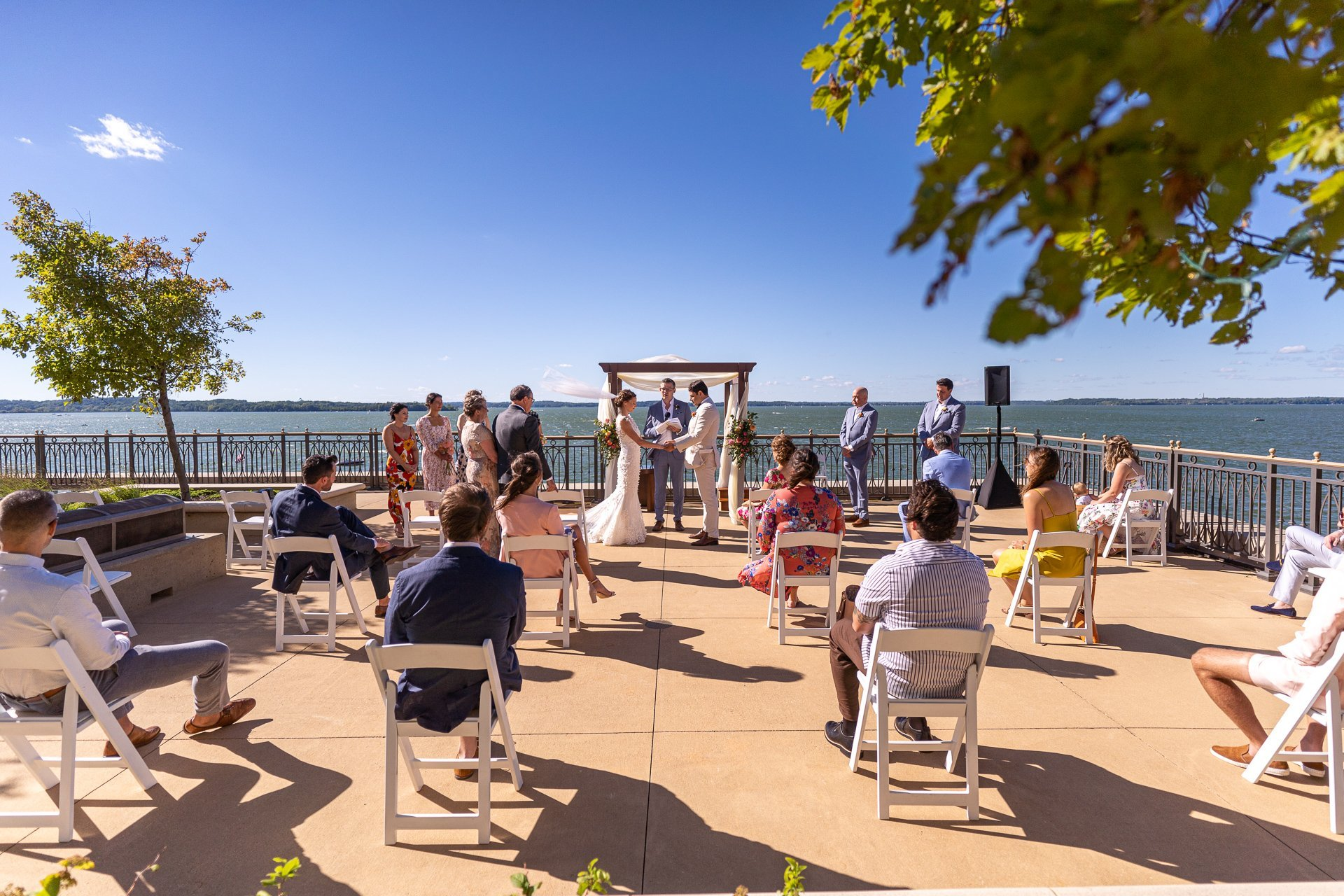 wedding ceremony at the Edgewater Hotel