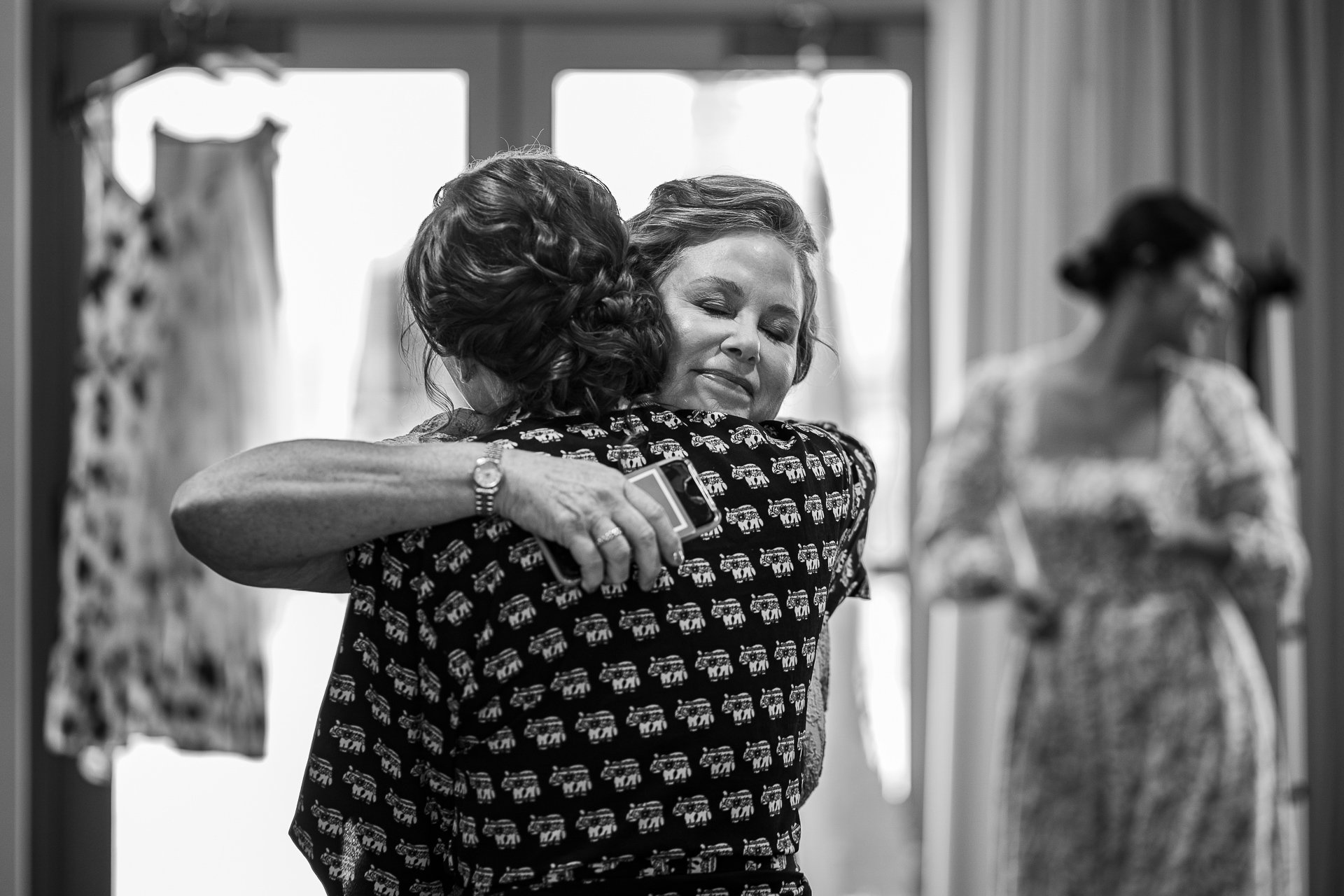 Wedding Photographers Madison WI Mom Hug