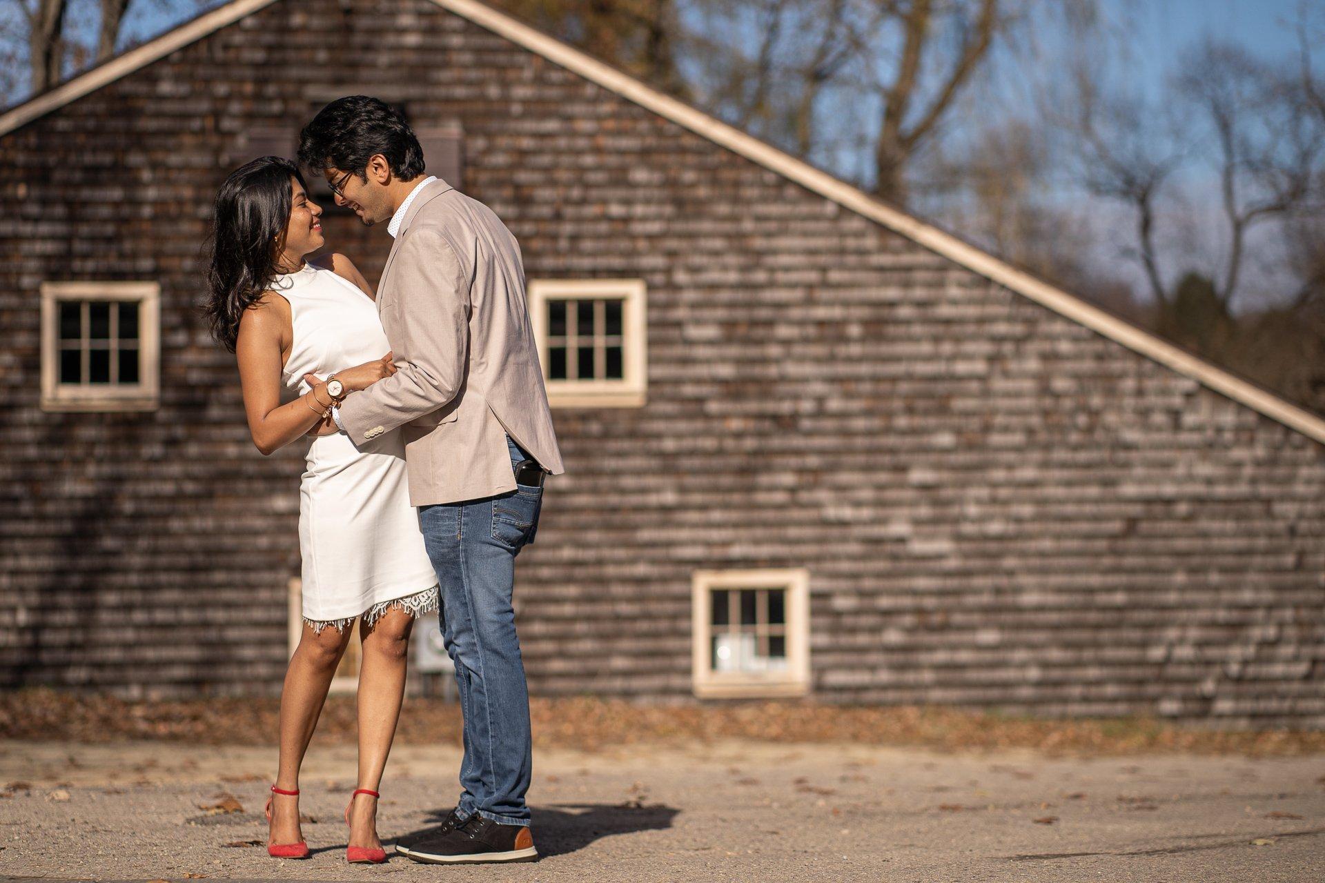 engaged couple uw madison wi