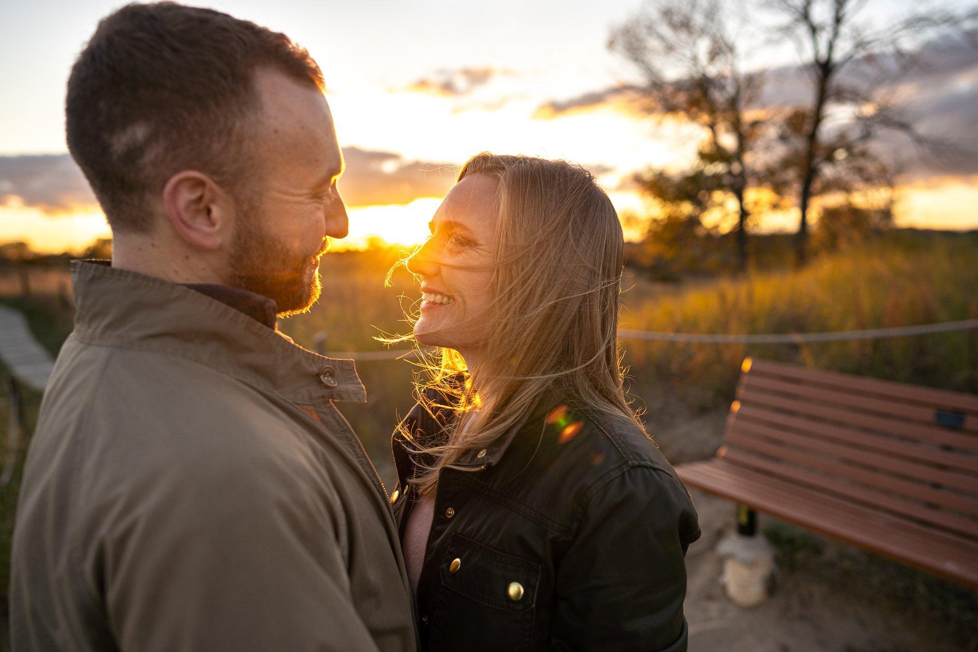 Kohler-Andrae State Park couple sunset