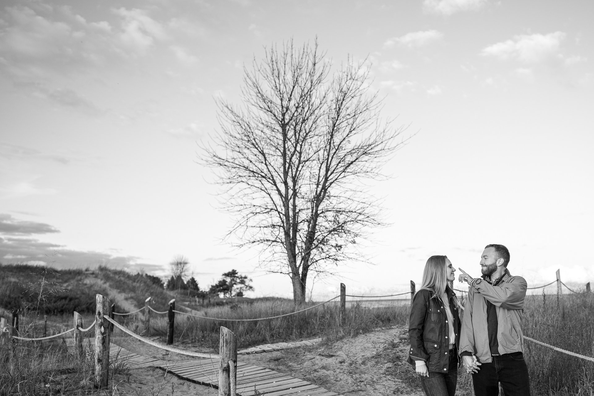 Kohler-Andrae State Park engagement photos