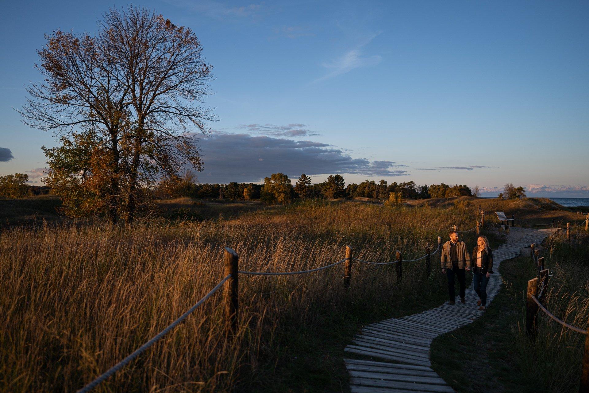 Kohler-Andrae State Park engagement session