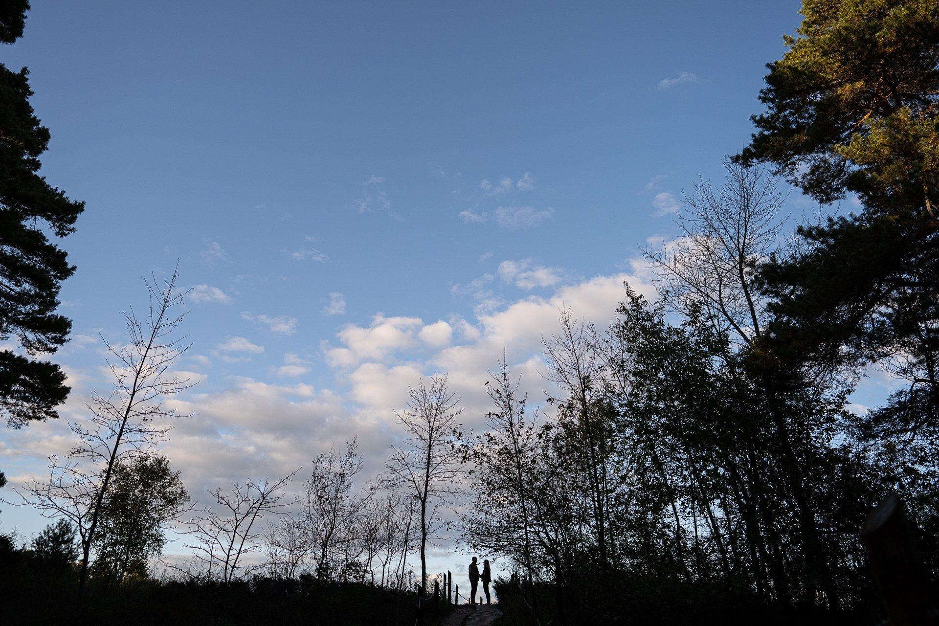 silhouette at Kohler-Andrae State Park