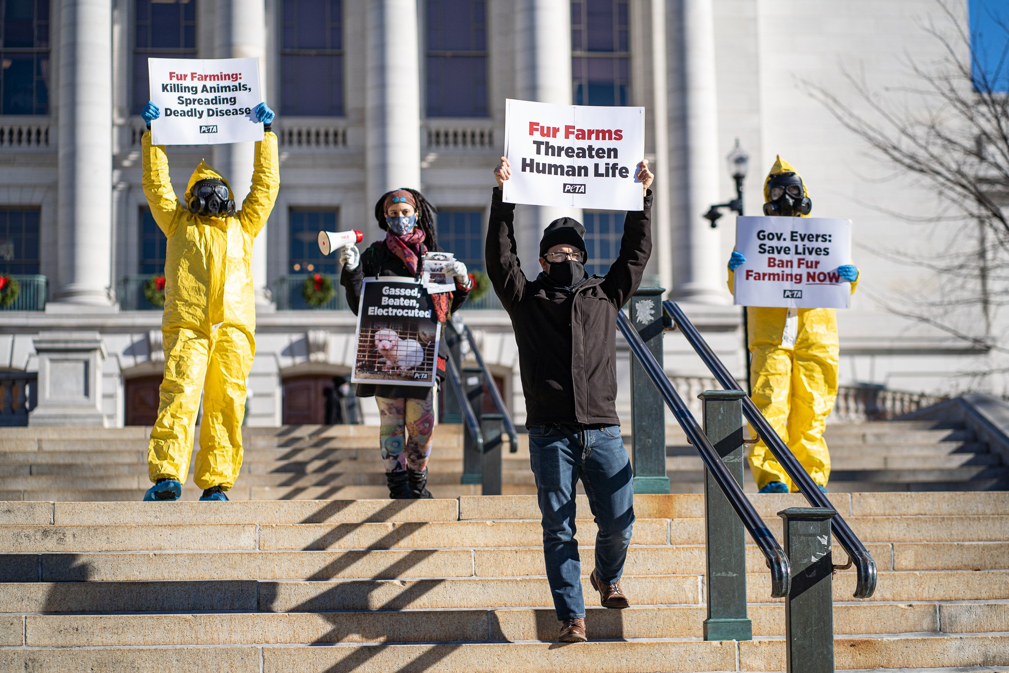 Event Photographers Madison WI Protest Fur Farming