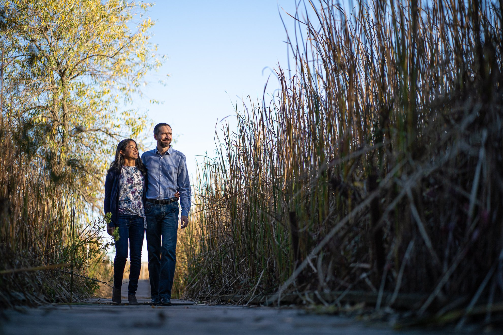 Family Photographers Madison WI Couple Tall Grass