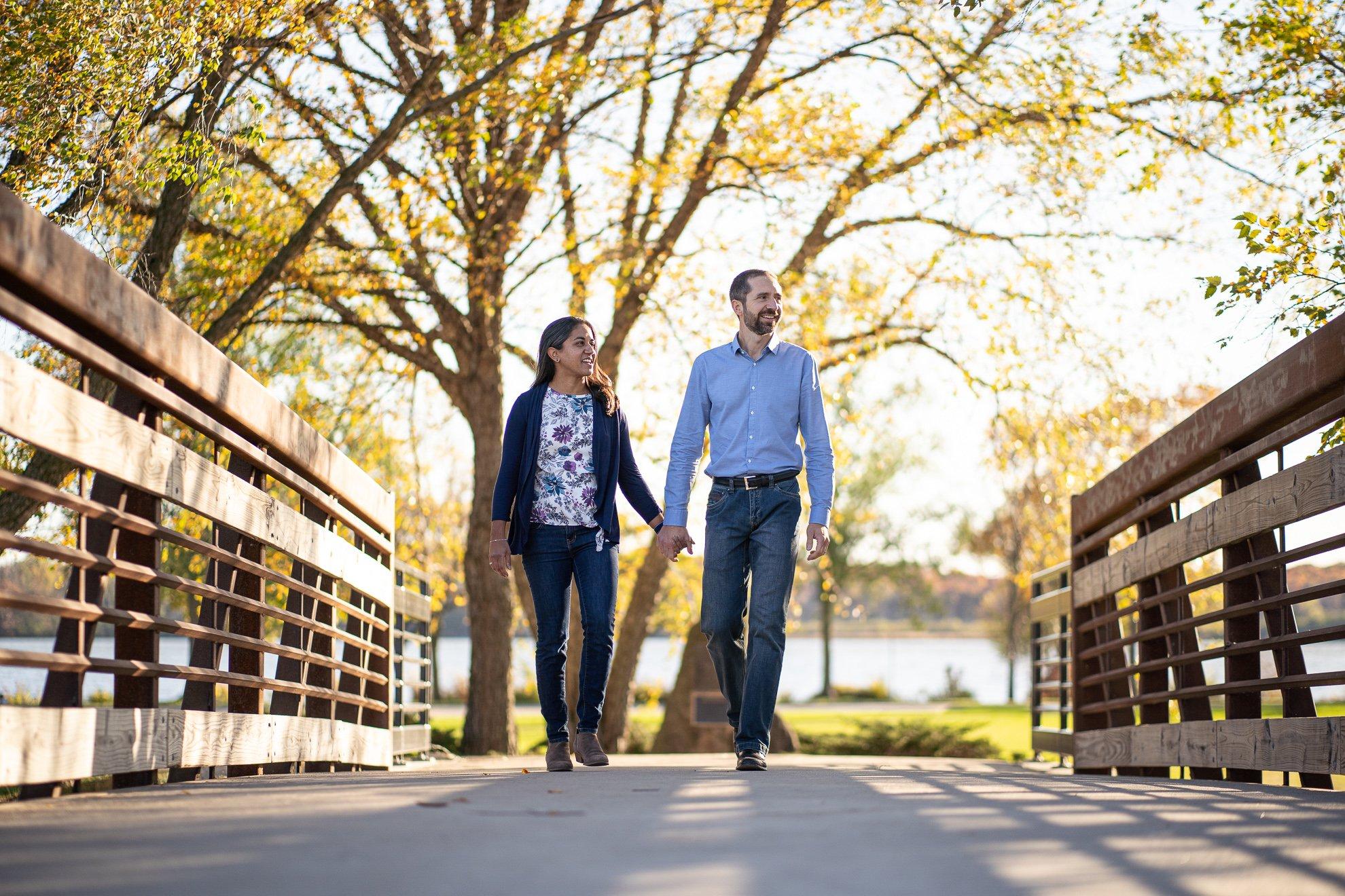 Family Photographers Madison WI Walking Bridge