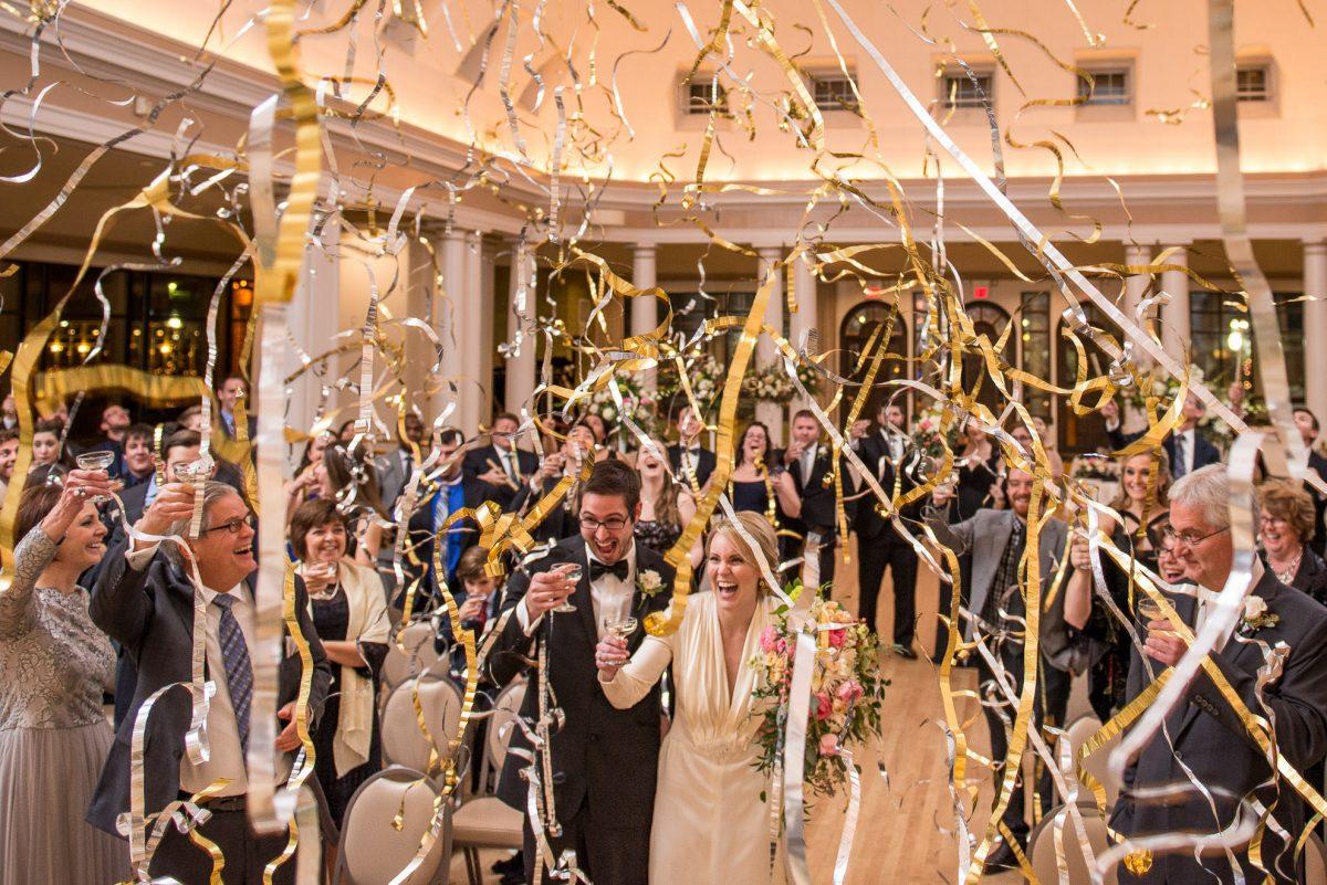 Documentary Style Wedding Photography Confetti