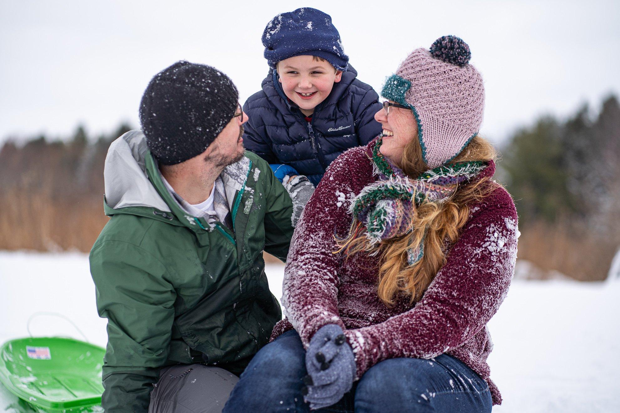 Kid Couple Family Portrait