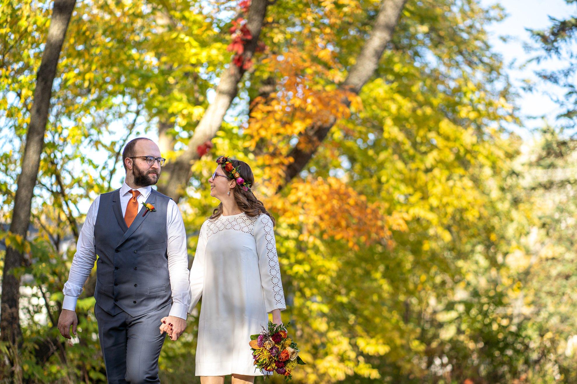 wedding photographers madison wi bride groom holding hands
