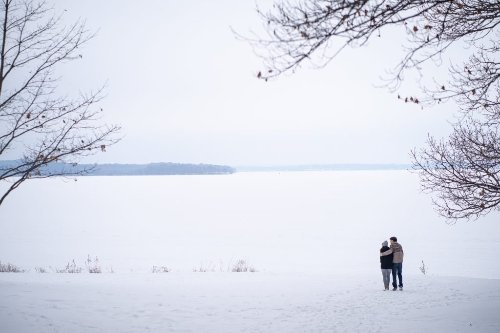 Engagement Photography Madison WI Winter Walk