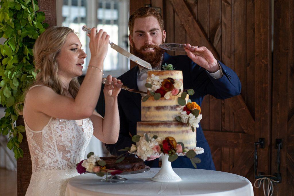 cutting wedding cake Madison WI