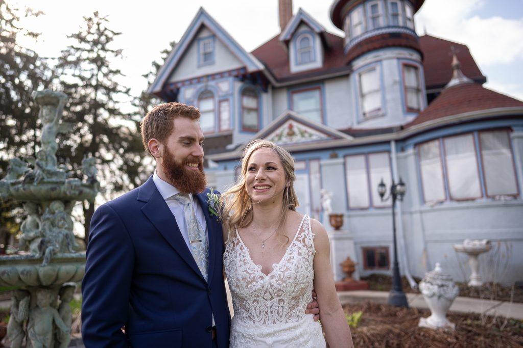 newly wed by victorian house