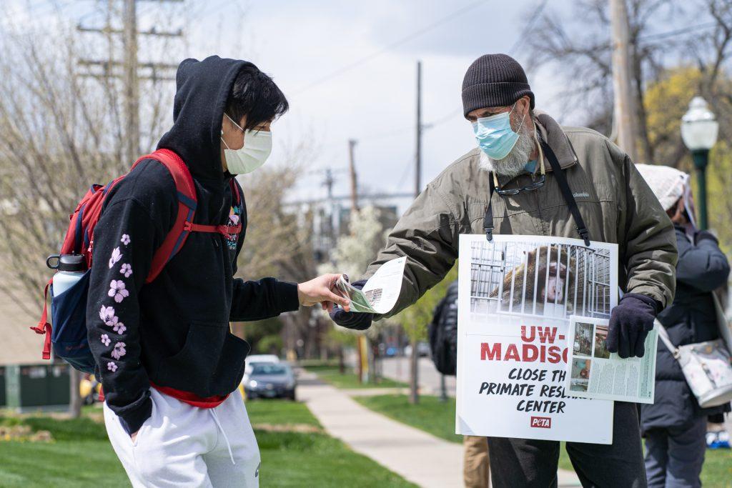 PETA Protest UW Madison Awareness