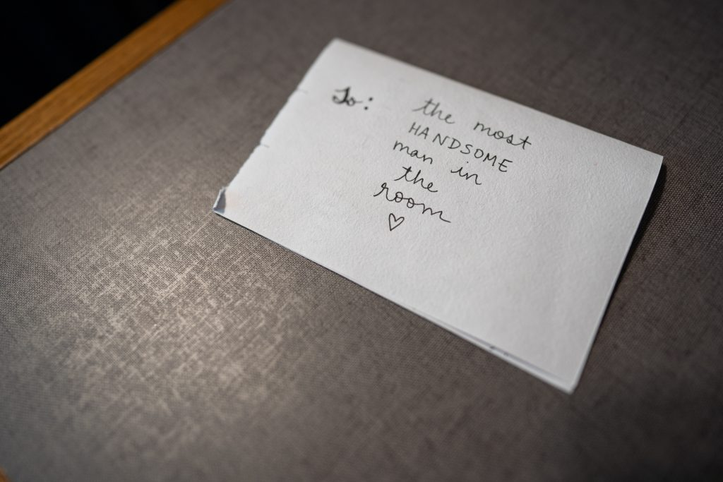 brides note to groom madison wi