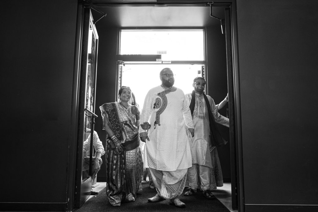 groom, brother and mother of the bride processional