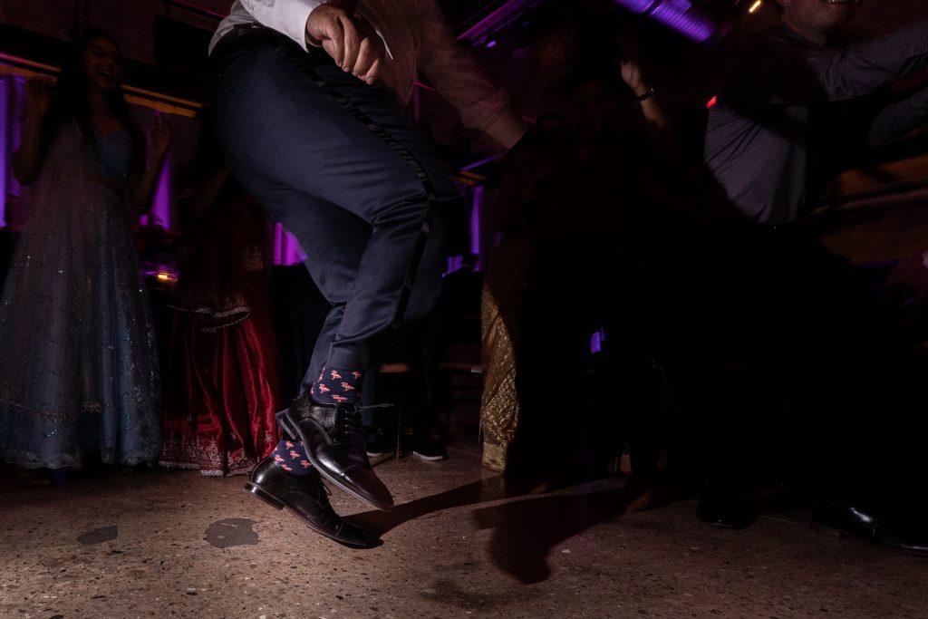 grooms feet dancing