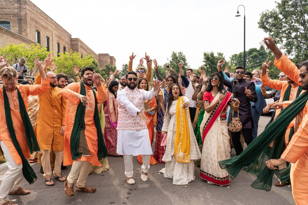 guests during indian wedding baraat