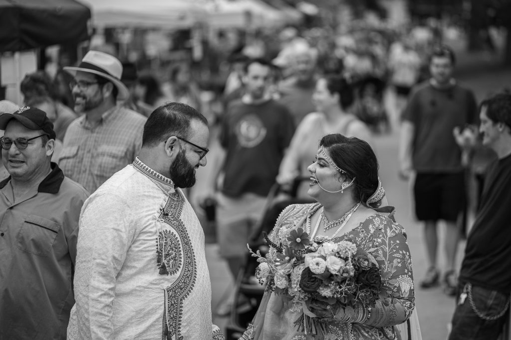 indian couple at the dane county farmers market