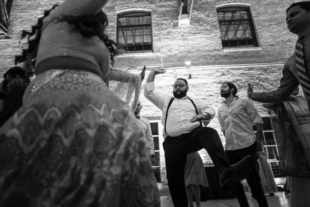 indian groom dancing madison wi