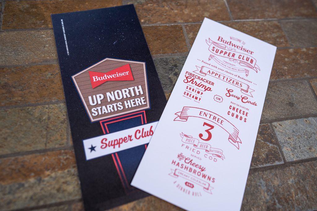 up north starts here Budweiser flyer