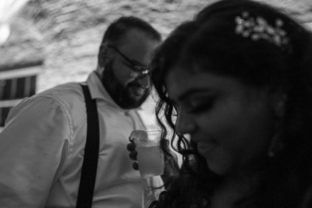 wedding couple during indian wedding reception