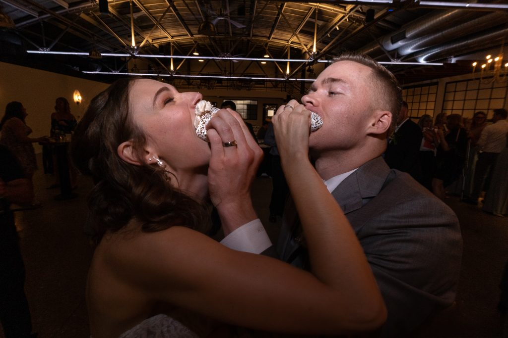 couple smashing cupcakes at each others face part 2