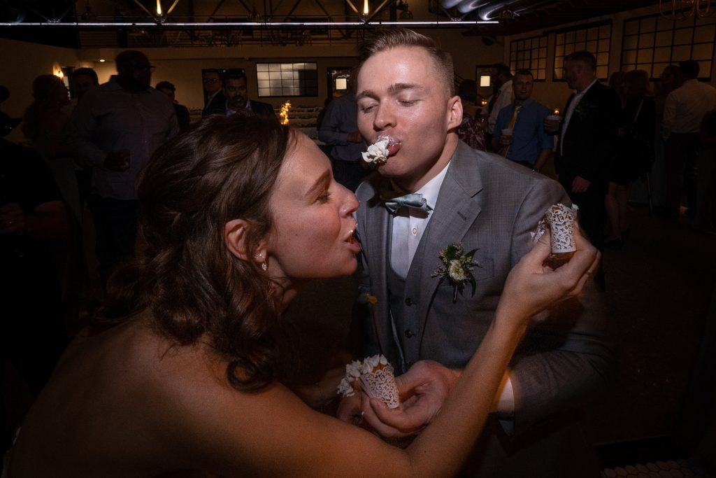 couple smashing cupcakes at each others face part 3