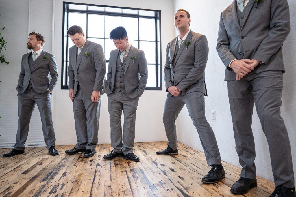 groomsmen rehearsing wedding ceremony madison wi